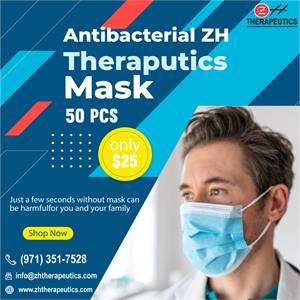 Antibacterial ZH Theraputics Face Mask 50 Pcs